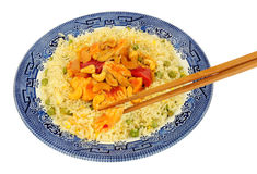 Chinois Kung Po Chicken Meal photos libres de droits