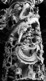 Chinois Longshan Temple de sculpture en colonne à Taïpeh, Taïwan Photos libres de droits