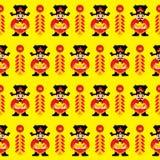 Chinois Lucky God Seamless illustration libre de droits