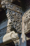 Chinois Qing Dynasty Wood Carving Architecture Photos stock