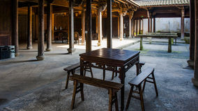 Chinois Qing Dynasty Wood Carving Architecture Photo libre de droits