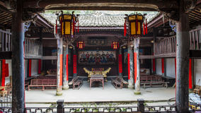 Chinois Qing Dynasty Wood Carving Architecture Photo stock