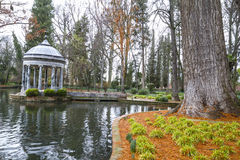 Chinoiserie.Ornamental fountains of the Palace of Aranjuez, Madr Royalty Free Stock Photos