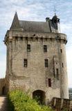 chinon Франция замока Стоковая Фотография RF
