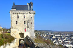 Chinon Castle Royalty Free Stock Images