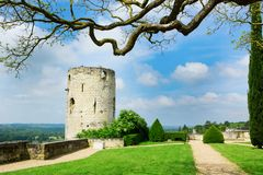 Chinon chateau, France Stock Photography