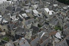 Chinon, dans les Frances de la Loire, vue de dessus de toit Photos stock