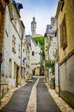 Chinon, France - June 24, 2012. Historic ciy center of Chinon by Loire.  royalty free stock images