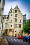 Chinon, France - June 24, 2012. Historic ciy center of Chinon by Loire.  stock photography
