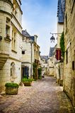Chinon, France - June 24, 2012. Historic ciy center of Chinon by Loire.  stock image