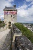 Chinon, la torre di orologio Immagini Stock Libere da Diritti