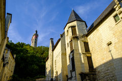 Chinon village, Indre-et-Loire, Loire Valley Royalty Free Stock Photos