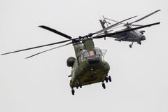 Chinook Apache helicopter Royalty Free Stock Photos