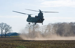 Chinook helicopter landing Royalty Free Stock Photo