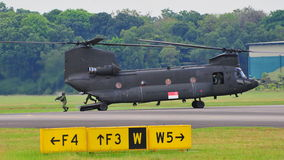 Chinook helicopter landing personnel Stock Photography
