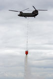 Chinook helicopter water bucket Royalty Free Stock Images