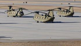 Chinook helikoptery Zdjęcia Stock