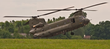 Chinook-Hubschrauber stockbild