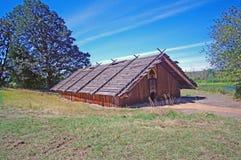 Chinook Indische Ceder Plankhouse Royalty-vrije Stock Afbeelding