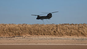 Chinook over Anglesey Royalty Free Stock Image