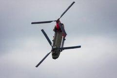 Chinook på den Blackpool flygshowen arkivfoto