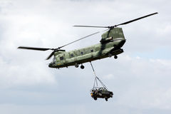 Chinook transport helicopter Royalty Free Stock Photo