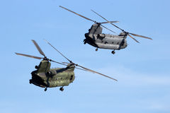 Chinook transport helicopters Royalty Free Stock Photos