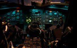 chinookcockpithelikopter royaltyfria foton