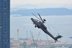Chinookluftbildschirmanzeige während NDP 2011 Lizenzfreie Stockfotografie