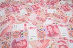 100 chinos Yuan Imágenes de archivo libres de regalías
