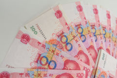 100 chinos Yuan Fotografía de archivo