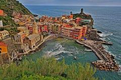 Chinqua Terre Italy. Italian coast Mediterranean Sea Royalty Free Stock Photos