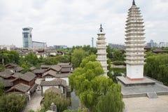 Chinês de Ásia, Pequim, China Minzu Yuan, chinês de Ásia, Pequim, China Minzu Yuan, Dali Three Pagodas, Imagem de Stock
