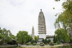 Chinês de Ásia, Pequim, China Minzu Yuan, Dali Three Pagodas, Imagens de Stock
