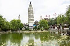 Chinês de Ásia, Pequim, China Minzu Yuan, Dali Three Pagodas, Foto de Stock