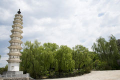 Chinês de Ásia, Pequim, China Minzu Yuan, Dali Three Pagodas, Foto de Stock Royalty Free