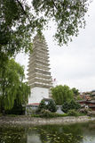 Chinês de Ásia, Pequim, China Minzu Yuan, Dali Three Pagodas, Imagem de Stock Royalty Free