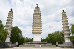 Chinês de Ásia, Pequim, China Minzu Yuan, Dali Three Pagodas, Fotos de Stock