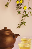 Chinse teapot and cups of tea Royalty Free Stock Image