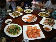 Chinses海鲜 免版税库存照片