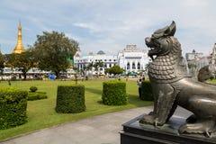 Chinthe (half lion half dog) in Mahabandoola Garden Stock Images