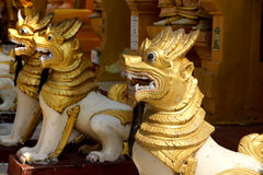 Chinthe  protects  pagoda Stock Images