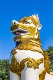 Chinthe statua Shwedagon Pagodowy Yangon w Myanmar zdjęcie royalty free