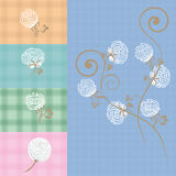 Chintz. Cotton flower background in . Cotton flower ornament pattern set Royalty Free Stock Image