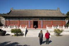 Chiny, Azja, Pekin Uroczysty widoku ogród, antykwarscy budynki Zdjęcia Stock