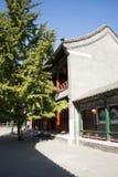 Chiny, Azja, Pekin Uroczysty widoku ogród, antykwarscy budynki Obraz Stock