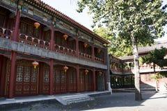 Chiny, Azja, Pekin Uroczysty widoku ogród, antykwarscy budynki Obrazy Royalty Free