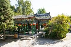 Chiny, Azja, Pekin Uroczysty widoku ogród, antykwarscy budynki Zdjęcia Royalty Free