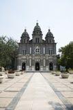 Chiny i Azja, Pekin Wangfujing kościół katolicki Wschodni kościół Zdjęcie Royalty Free