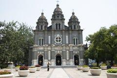 Chiny i Azja, Pekin Wangfujing kościół katolicki Wschodni kościół Obraz Royalty Free